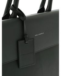 Karl Lagerfeld Ikon Handbag In Dark Green