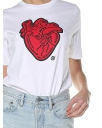 DSquared² - White Heart-print T-shirt - Lyst