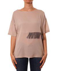 Fabiana Filippi - Pink Short Sleeve Blouse - Lyst