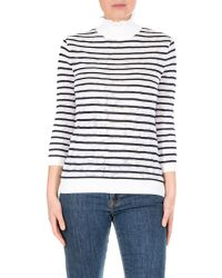 Chloé Multicolor Striped Turtleneck Sweater With Jacquard Effect