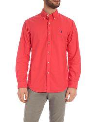 Polo Ralph Lauren Red Button Down Shirt for men