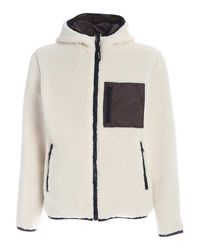Woolrich White Reversible Hooded Jacket for men