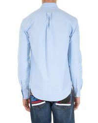 KENZO Light-blue Tiger Crest Shirt for men
