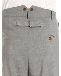 Vivienne Westwood Gray Grey Low Crotch Trousers for men