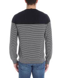 Z Zegna - Blue Shirt With White Stripes for Men - Lyst
