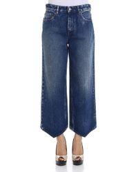 MM6 by Maison Martin Margiela - Blue Cotton Jeans - Lyst