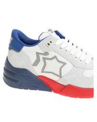 Atlantic Stars Men's White Leather Sneakers for men