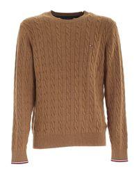 Tommy Hilfiger Brown Crewneck Pullover for men