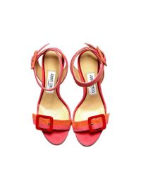 Jimmy Choo Dacha Sandals In Shades Of Pink