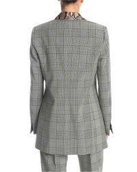 Giacca Principe Di Galles Con Revers Stampa Pitone di MSGM in Gray