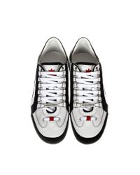 DSquared² - White Leather 551 Sneakers for Men - Lyst