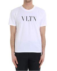 Valentino - White Vltn T-shirt for Men - Lyst