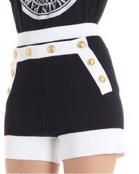 Balmain Woman Button-embellished Knitted Shorts Black Size 36