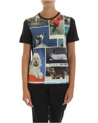 PS by Paul Smith Black Printed T-shirt