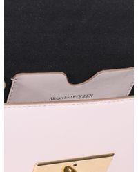 Borsa A Tracolla Skull Lock Rosa di Alexander McQueen in Pink