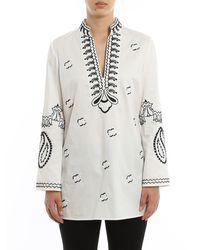 Tory Burch Multicolor Embroidered Cotton Tunic