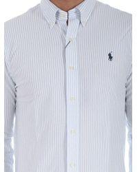 Polo Ralph Lauren - White Striped Button-down Shirt for Men - Lyst