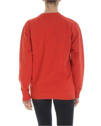 Vivienne Westwood Anglomania Red Sweatshirt With Arm & Cutlass Logo
