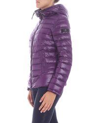 """Peuterey - """"utah"""" Purple Down Jacket - Lyst"""