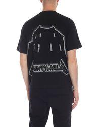 T-shirt Ghost House nera di Marcelo Burlon in Black da Uomo
