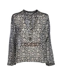 Étoile Isabel Marant Maria Top In Black And White