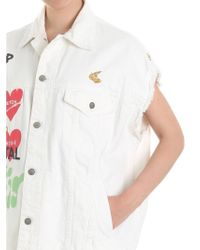 Vivienne Westwood Anglomania - Cream-colored Waistcoat With Multicolor Print - Lyst
