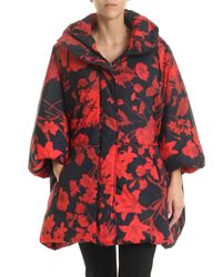 Valentino Black And Red Printed Over-fit Down Jacket