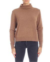 Pullover in lana color cammello di Aspesi in Multicolor