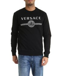 Versace Medusa Logo Crewneck Sweatshirt In Black for men