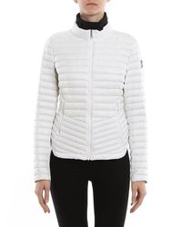 Colmar White Quilted Fabric Puffer Jacket