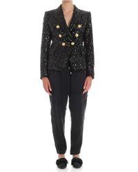 Balmain - Black Sequins Jacket - Lyst