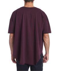 T-shirt bordeaux taglio vivo di Vivienne Westwood Anglomania in Purple da Uomo