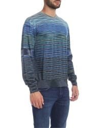 Missoni Blue Wool Sweater for men