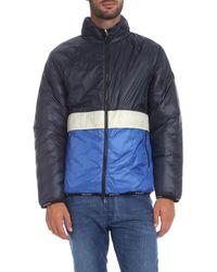 Woolrich Pack-it Down Jacket In Blue for men
