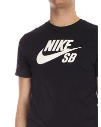 Sb T-shirt nera di Nike in Black da Uomo