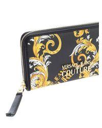 Portafoglio Stampa Logo Baroque Couture I di Versace Jeans in Black