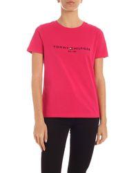 Tommy Hilfiger Pink Bright Jewel T-shirt