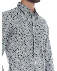 Camicia celeste con stampa floreale di PS by Paul Smith in Gray da Uomo