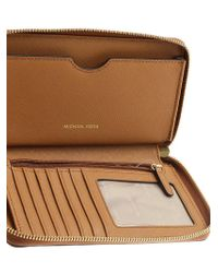Michael Kors - Brown Saffiano Effect Leather Wallet - Lyst