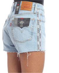 Shorts in denim 501 High Rise azzurri di Levi's in Blue