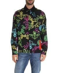 Versace Jeans Green Color Baroque Shirt for men