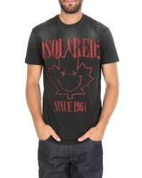 Since 1964 T-shirt nera di DSquared² in Black da Uomo