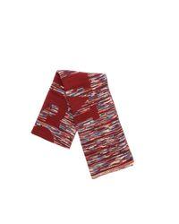 Sciarpa Bordeaux Con Motivo Multicolor di Missoni in Red da Uomo