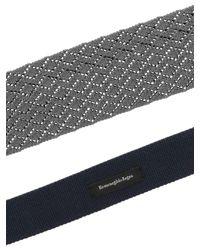 Cravatta in maglia di seta grigia di Ermenegildo Zegna in Gray da Uomo