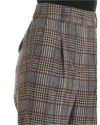 Pantalone tartan grigio e marrone di Peserico in Gray