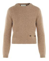 Gucci Natural Cashmere Pullover