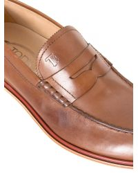 Tod's Brown Leather Mocassin for men