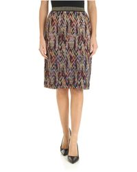 Missoni Multicolor Knitted Knee-length Skirt