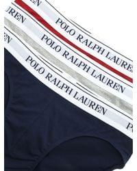 Set 3 slip grigio blu e bordeaux di Polo Ralph Lauren in Gray da Uomo