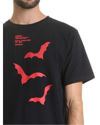 T-shirt Bats nera di Off-White c/o Virgil Abloh in White da Uomo